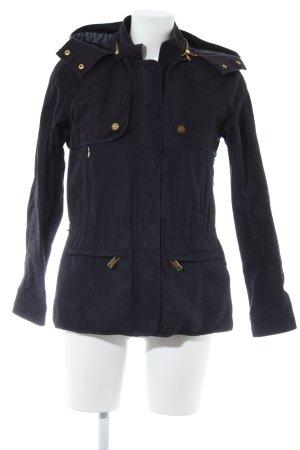 Zara Basic Kapuzenjacke dunkelblau Casual-Look