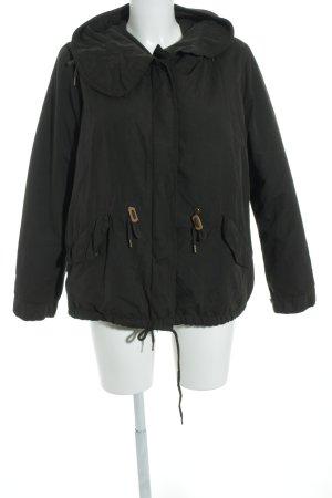 Zara Basic Kapuzenjacke dunkelgrün Casual-Look