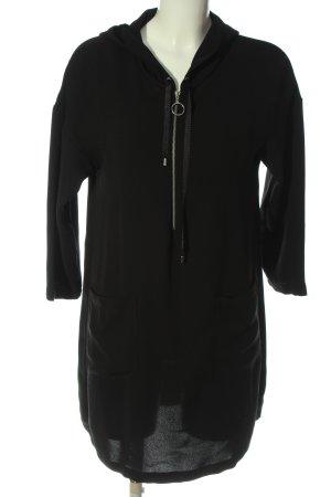 Zara Basic Hooded Dress black casual look