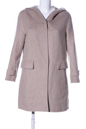 Zara Basic Cappotto con cappuccio bianco sporco stile casual