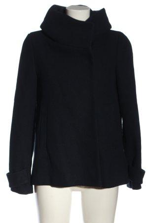 Zara Basic Kapuzenmantel schwarz Casual-Look