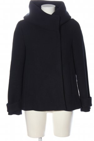 Zara Basic Hooded Coat black casual look