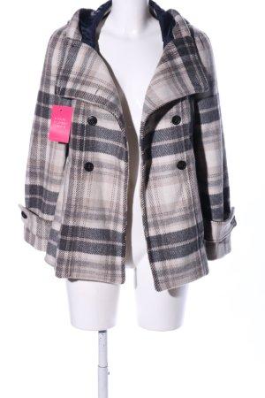 Zara Basic Hooded Coat check pattern casual look