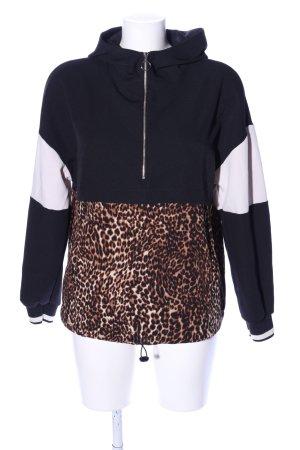 Zara Basic Top à capuche motif léopard style décontracté