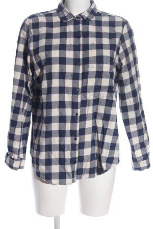 Zara Basic Camicia a scacchi nero-bianco motivo a quadri stile casual