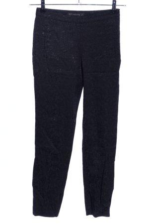 Zara Basic Pantalone peg-top nero motivo floreale stile casual