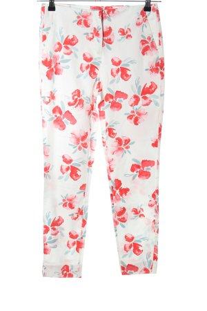 Zara Basic Karottenhose Blumenmuster Casual-Look