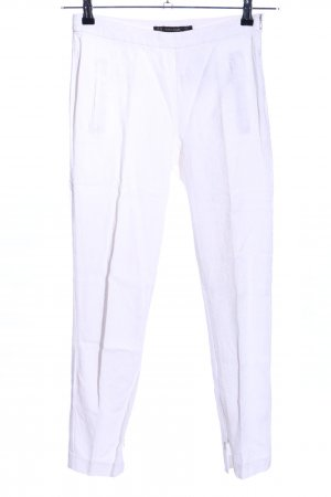 Zara Basic Peg Top Trousers white casual look