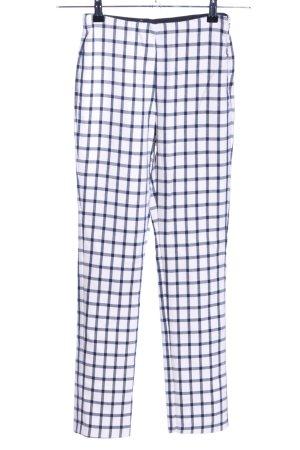 Zara Basic Pantalon fuselé blanc-noir motif à carreaux style décontracté