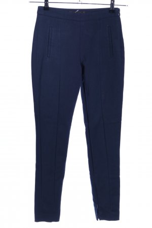 Zara Basic Karottenhose blau Business-Look