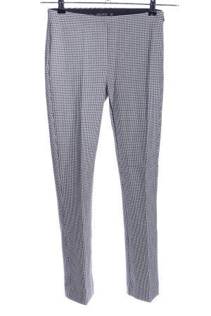 Zara Basic Karottenhose weiß-schwarz Allover-Druck Business-Look