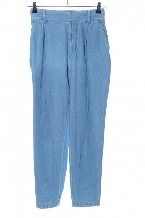 Zara Basic Karottenjeans blau Casual-Look