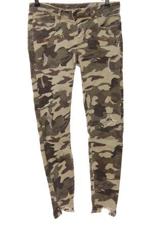 Zara Basic Khakihose Camouflagemuster Casual-Look