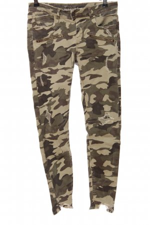 Zara Basic Pantalon kaki motif de camouflage style décontracté