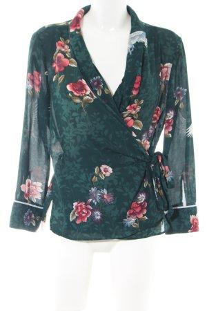 Zara Basic Kimono flower pattern casual look