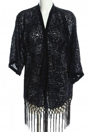 Zara Basic Kimono schwarz Allover-Druck Elegant