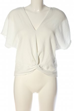 Zara Basic Kimono Blouse white casual look