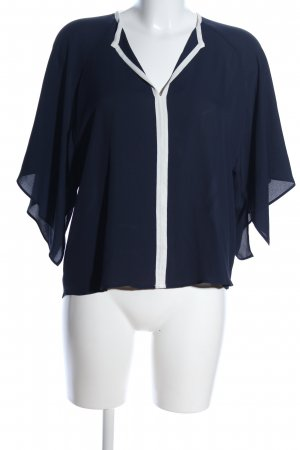 Zara Basic Kimono Blouse blue-white casual look