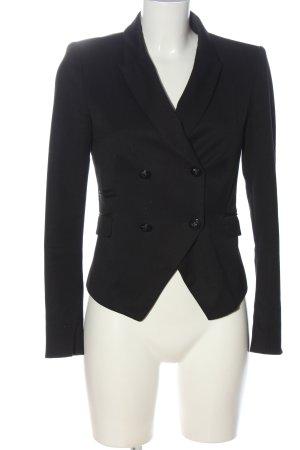 Zara Basic Klassischer Blazer schwarz Streifenmuster Business-Look