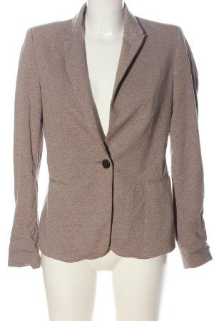 Zara Basic Klassischer Blazer braun meliert Casual-Look