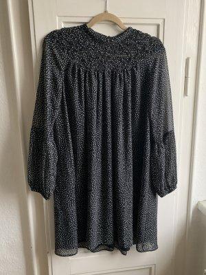 Zara Basic Kleid gepunktet M mit Polka dots