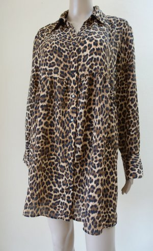 Zara  Basic Kleid mit Leopard Print Muster