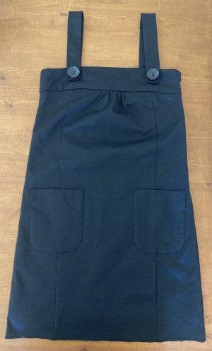 Zara Basic Kleid schwarz mit Knopf-Details