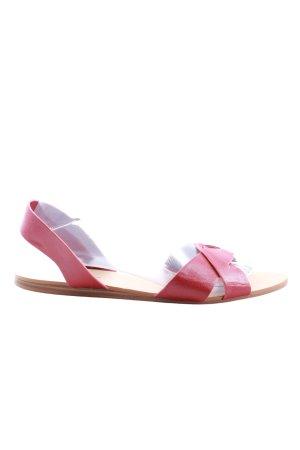Zara Basic Comfortabele sandalen rood casual uitstraling