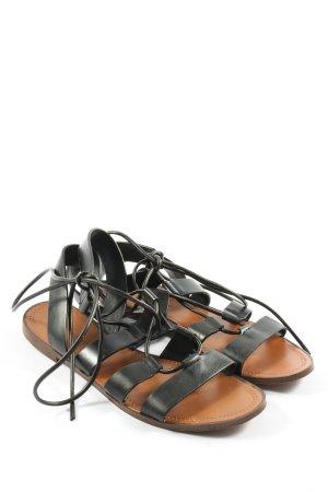 Zara Basic Komfort-Sandalen schwarz Casual-Look
