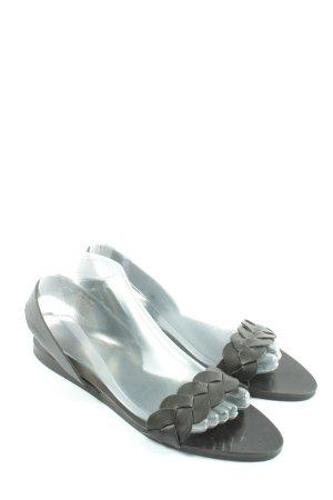 Zara Basic Sandales confort noir style décontracté