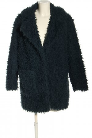 Zara Basic Fake Fur Jacket blue casual look