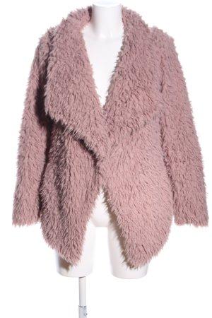 Zara Basic Chaqueta de piel sintética rosa look casual