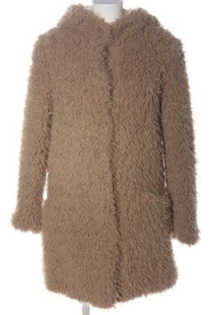 Zara Basic Kunstfelljacke braun Casual-Look