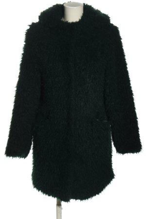 Zara Basic Manteau en fausse fourrure noir style décontracté