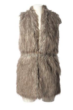 Zara Basic Kunstfellweste braun Casual-Look