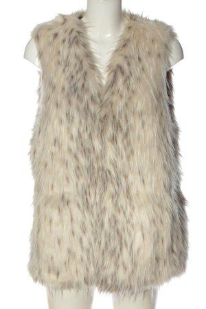 Zara Basic Kunstfellweste creme Elegant