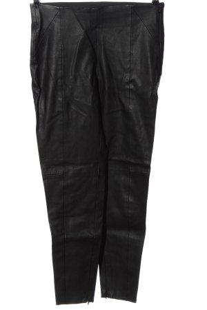 Zara Basic Kunstlederhose schwarz Casual-Look