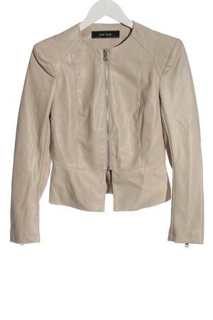 Zara Basic Veste en cuir synthétique blanc cassé style décontracté