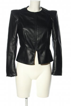 Zara Basic Kunstlederjacke schwarz Business-Look