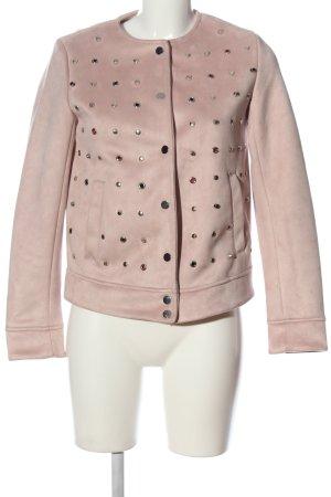Zara Basic Kunstlederjacke pink Casual-Look