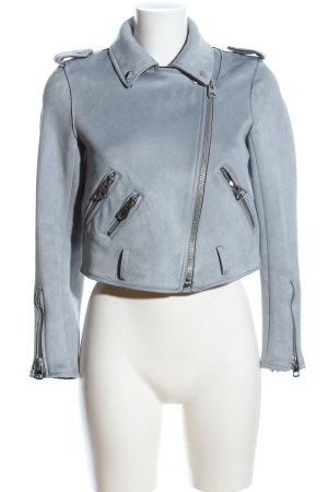 Zara Basic jacke blau Casual-Look