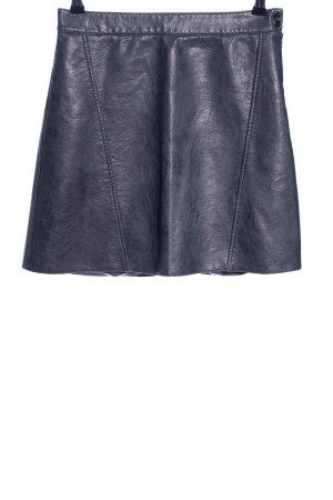 Zara Basic Spódnica z imitacji skóry czarny-jasnoszary W stylu casual