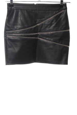 Zara Basic Kunstlederrock schwarz Elegant