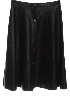 Zara Basic Jupe en cuir synthétique noir style décontracté