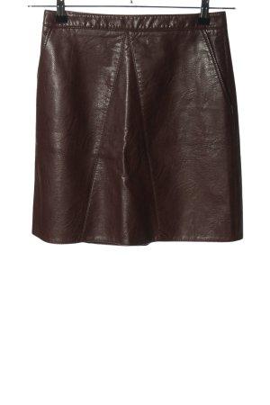 Zara Basic Kunstlederrock braun Casual-Look