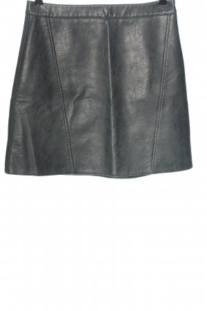 Zara Basic Kunstlederrock hellgrau Casual-Look