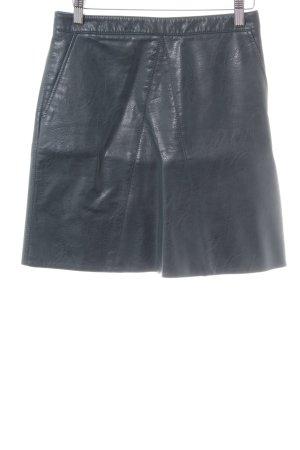 Zara Basic Spódnica z imitacji skóry niebieski Z połyskiem
