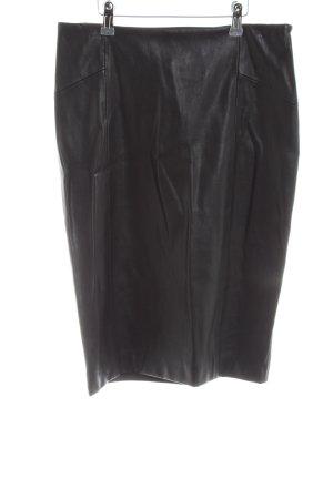 Zara Basic Spódnica z imitacji skóry czarny W stylu biznesowym