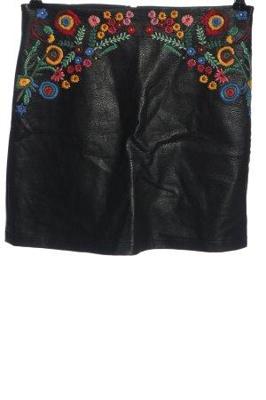 Zara Basic Spódnica z imitacji skóry Wielokolorowy W stylu casual