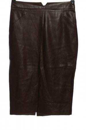 Zara Basic Faux Leather Skirt brown casual look